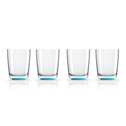 Longdrink-Glas 425 ml (4er-Set) von Palm Products in Blau