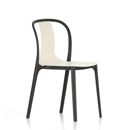 Belleville Chair Plastic von Vitra in Crème