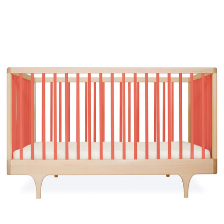 Babybett Caravan Crib von Kalon aus Ahorn in Orange
