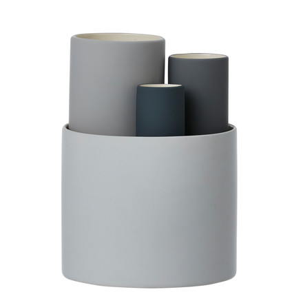 Collect Vasen 4er-Set von ferm Living in Grau