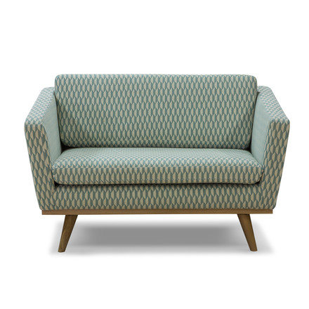 Fifties Sofa 120 von red edition in Bakou Celadon (T31)