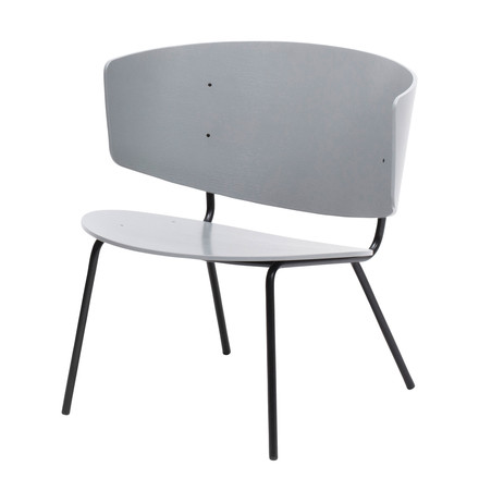Herman Lounge Chair von ferm Living in Hellgrau