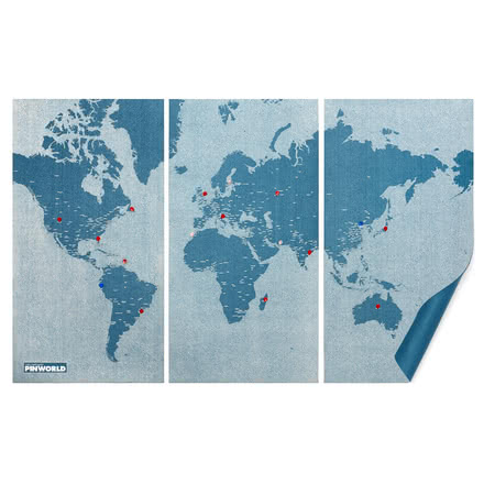 Palomar - Pin World, light blue, extra large