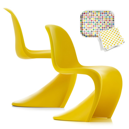 Angebots-Set: 2 Vitra - Panton Chairs, sunlight (Sonderedition)