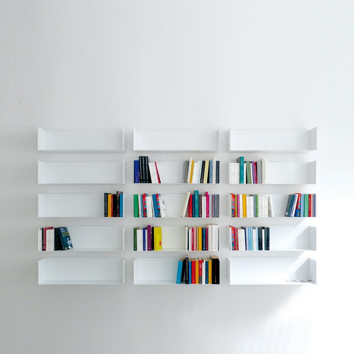 Wandregal weiß bücher  linea1 a Bücher- und DVD-Regal im Shop