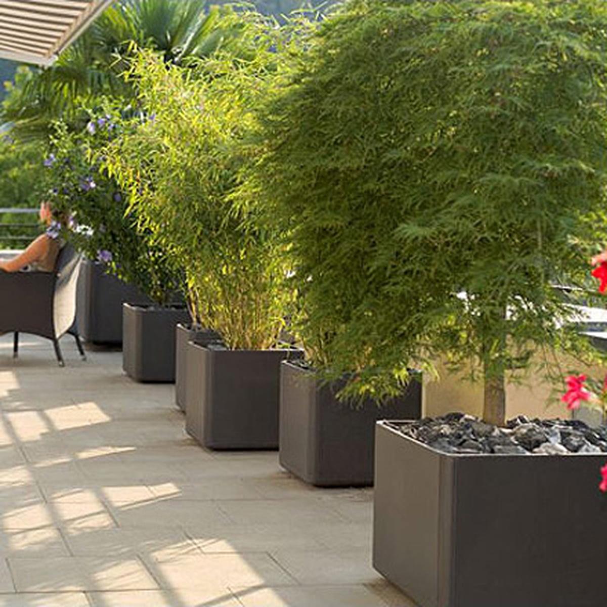 delta pflanzentopf - rechteckig von eternit, Gartengerate ideen