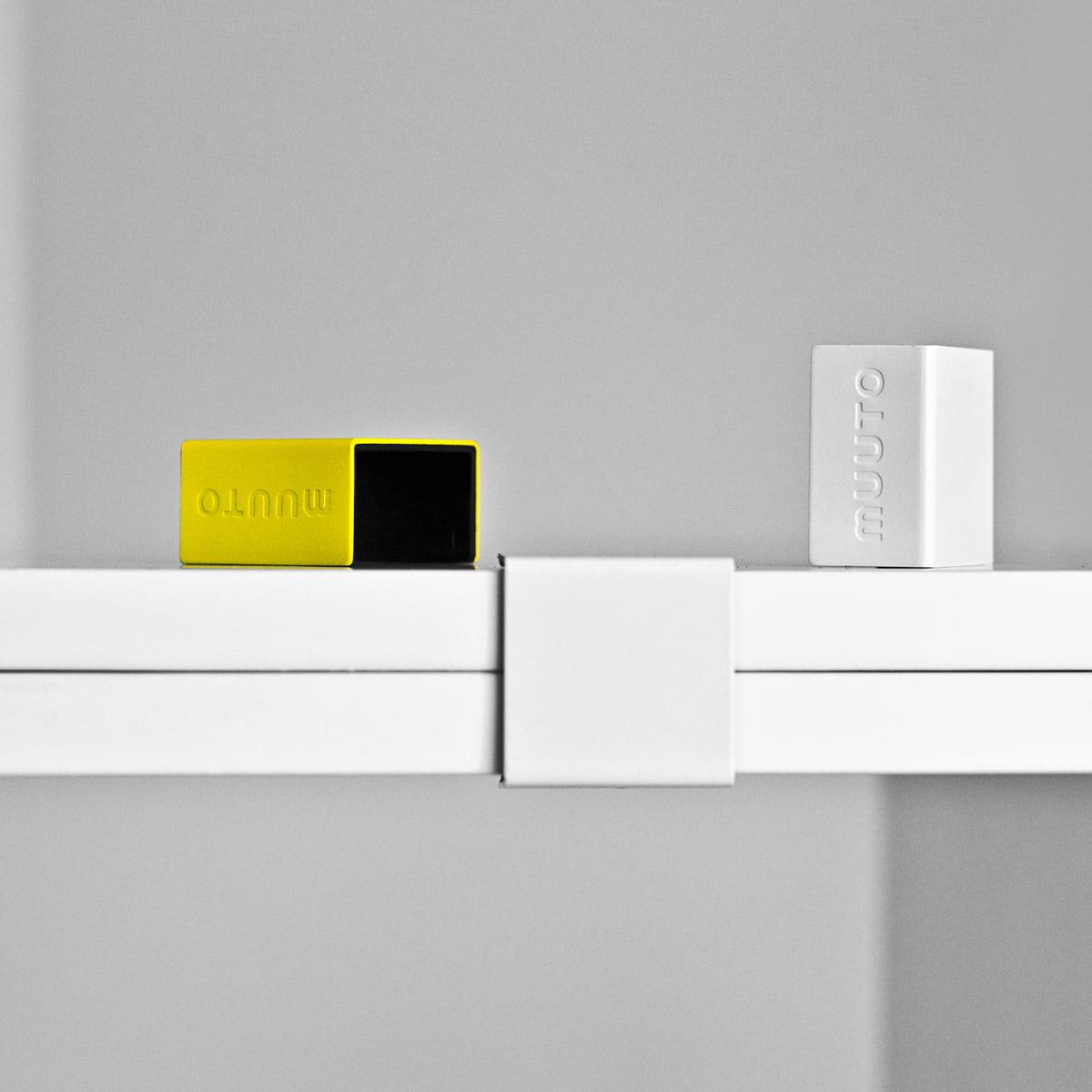 Muuto - Klammern für Stacked Regalsystem 2.0  weiß (5er Set)   Wohnzimmer > Regale > Regalsysteme   Muuto