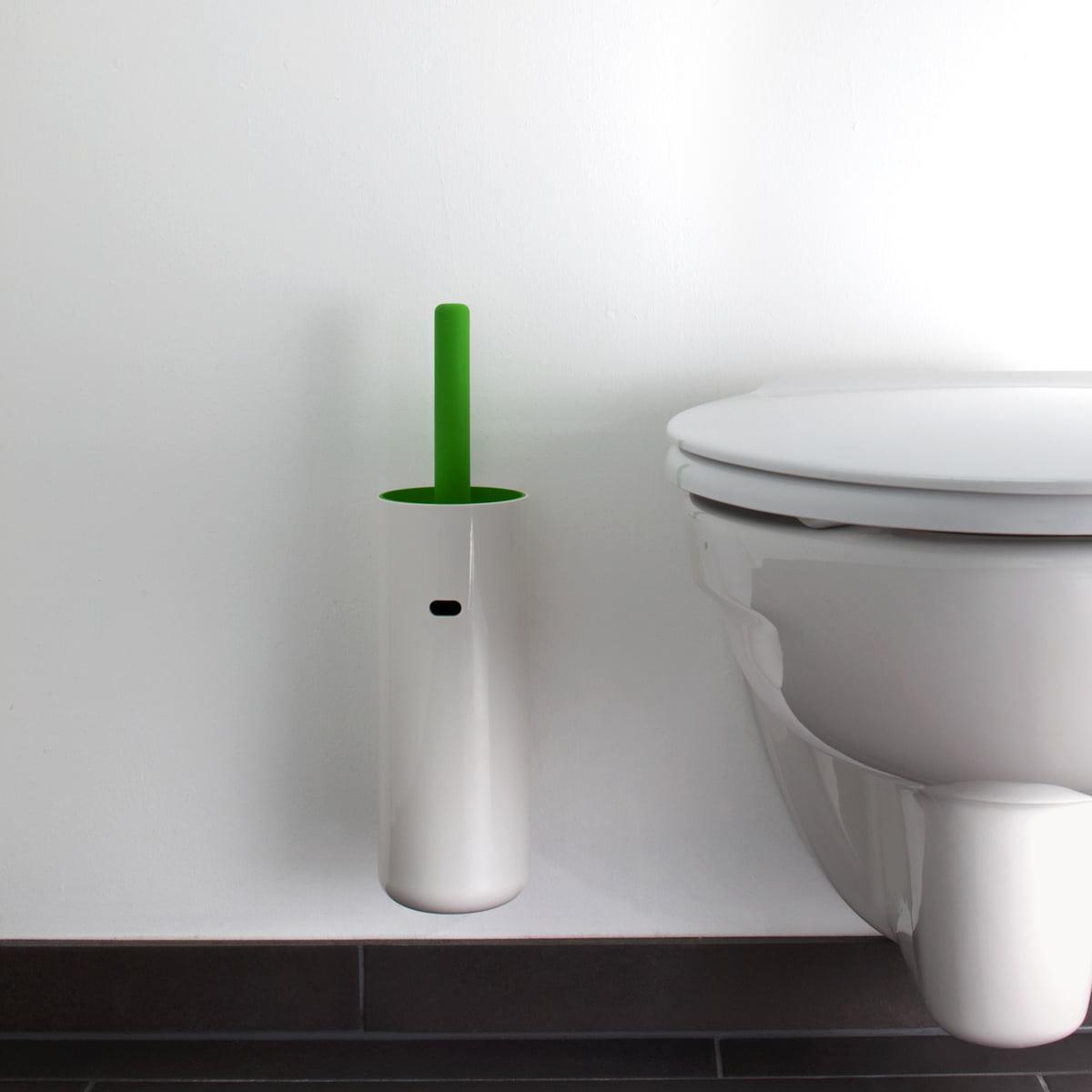Depot4Design - Lunar WC-Bürste wandhängend| weiß / schwarz | Bad > Bad-Accessoires > WC-Bürsten | Depot4Design