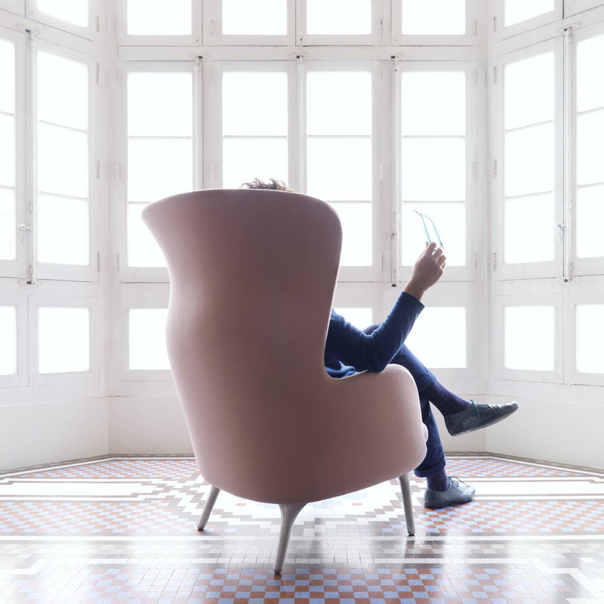 Fritz Hansen   Ro Sessel, Pink   Jaime Hayon, Sitzend, Rückseite