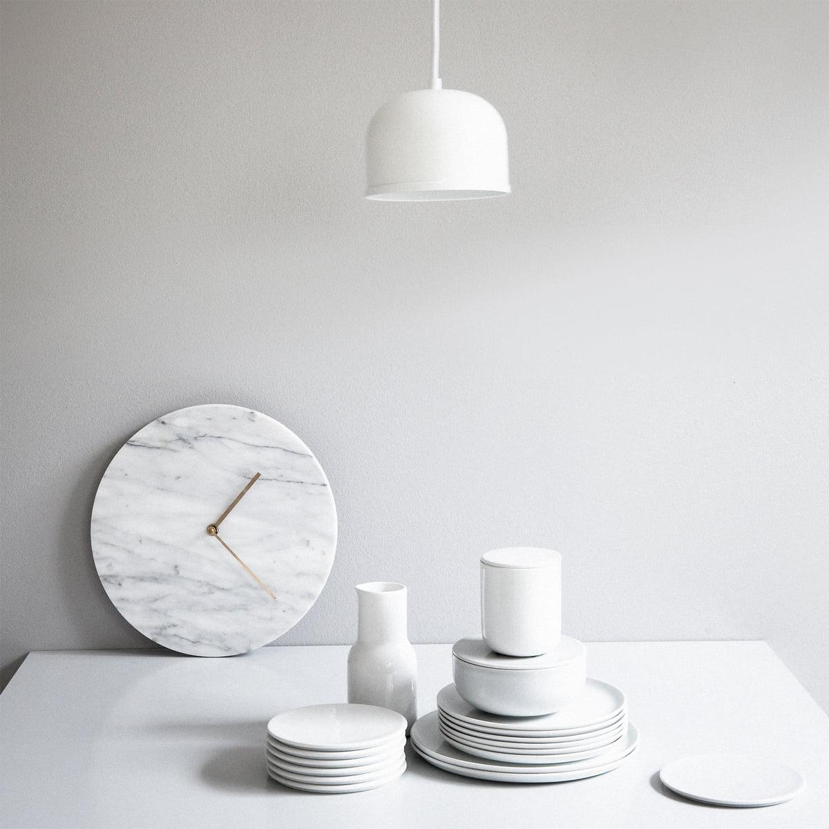 marble wanduhr von menu im wohndesign-shop - Weie Mbel Weie Wand
