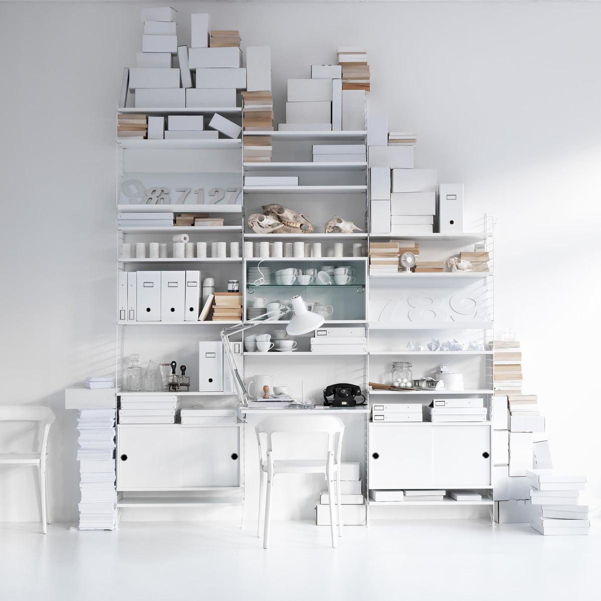 Bücherregal weiß design  Regalsystem von String im Wohndesign-Shop