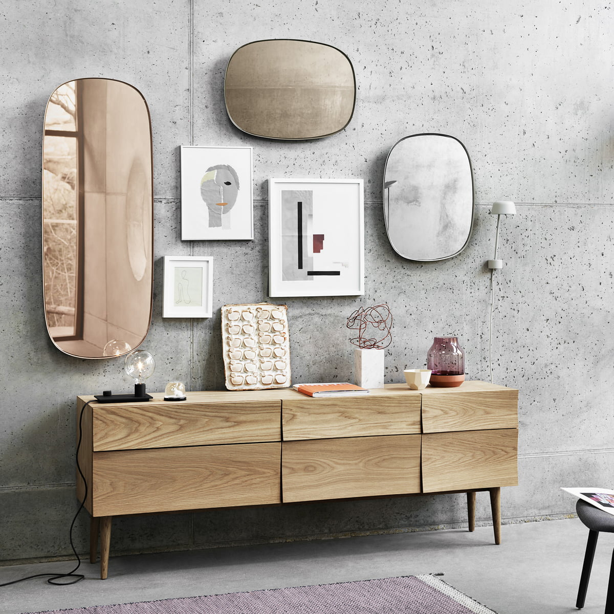 framed mirror spiegel von muuto online. Black Bedroom Furniture Sets. Home Design Ideas