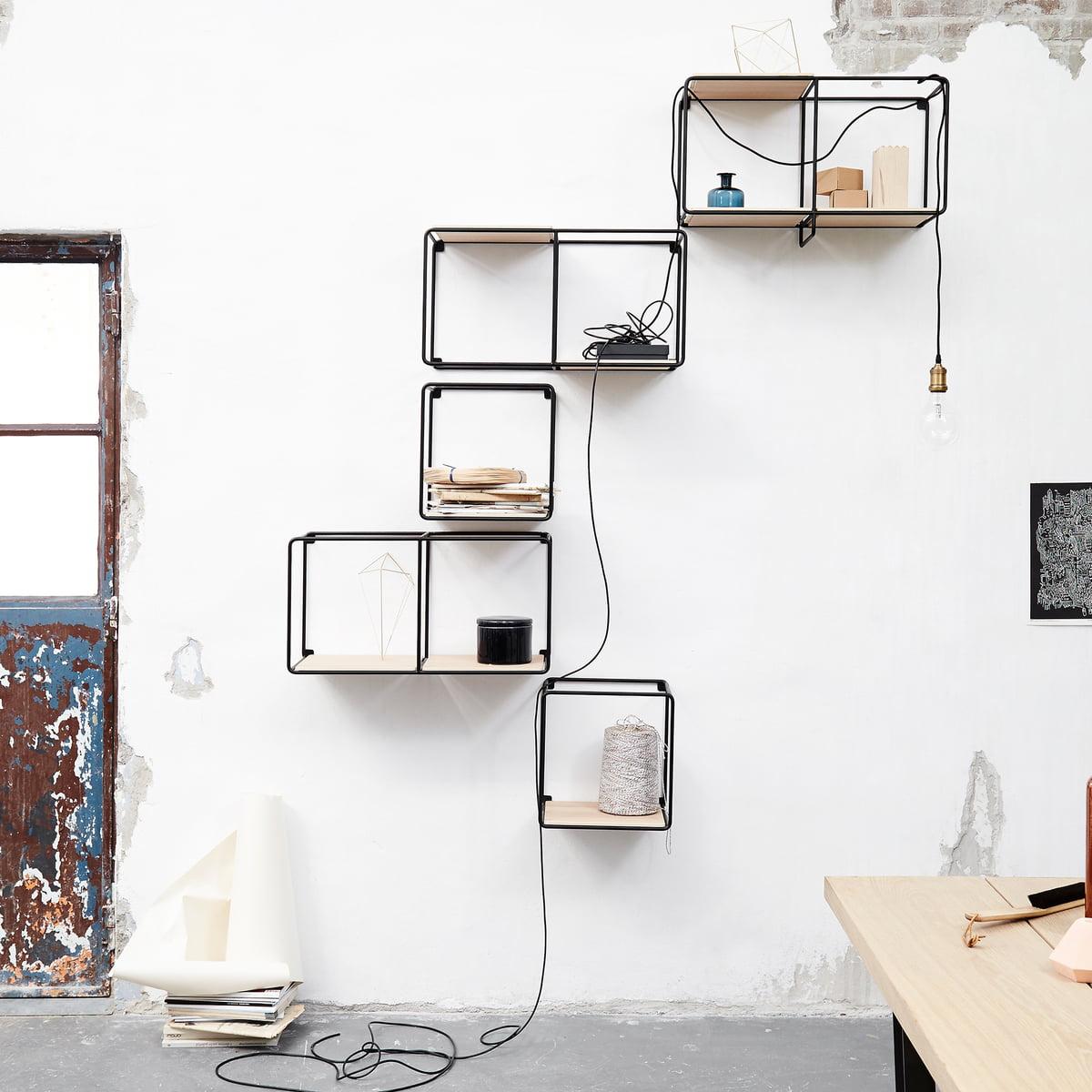 anywhere 1x1 wandregal von korridor connox. Black Bedroom Furniture Sets. Home Design Ideas