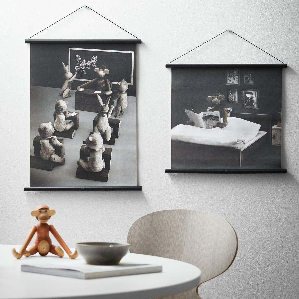 affe foto klassenzimmer inkl rahmen von kay bojesen. Black Bedroom Furniture Sets. Home Design Ideas