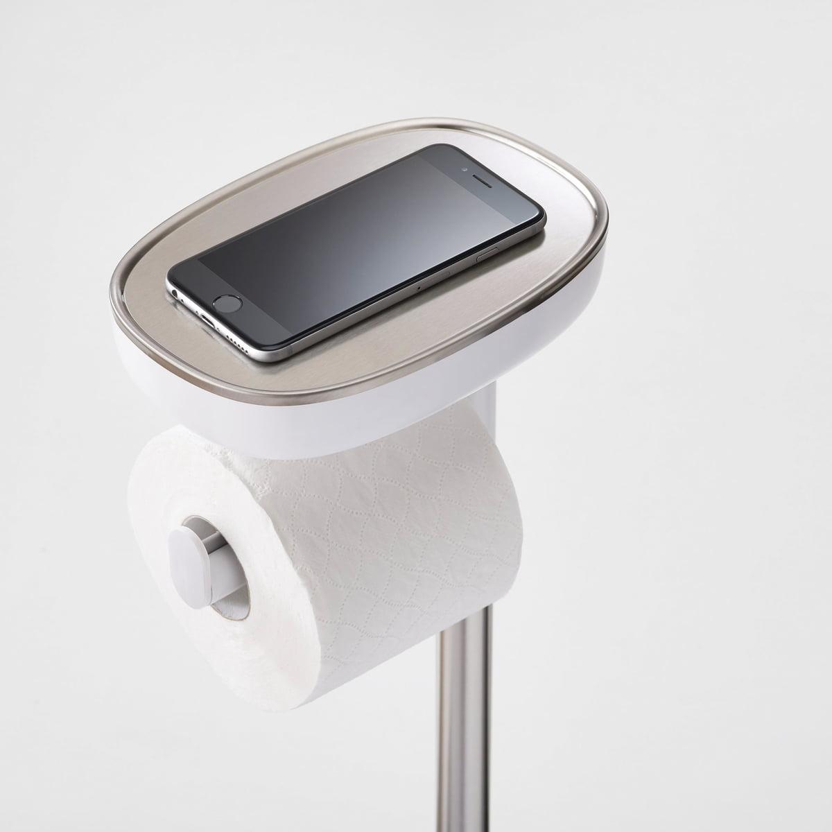 Joseph Joseph - EasyStore Toilettenpapierhalter| Edelstahl / weiß | Bad > Bad-Accessoires > Toilettenpapierhalter | Joseph Joseph