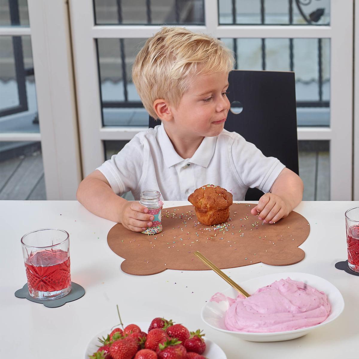 LindDNA - Kinder-Tischset Bär| Nupo anthrazit | Kinderzimmer > Kindertische | LIND DNA