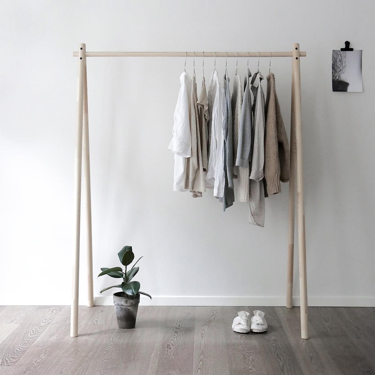KARUP Design - Hongi Garderobe mit Spiegel| Natur | Flur & Diele > Spiegel > Garderobenspiegel | Karup Design