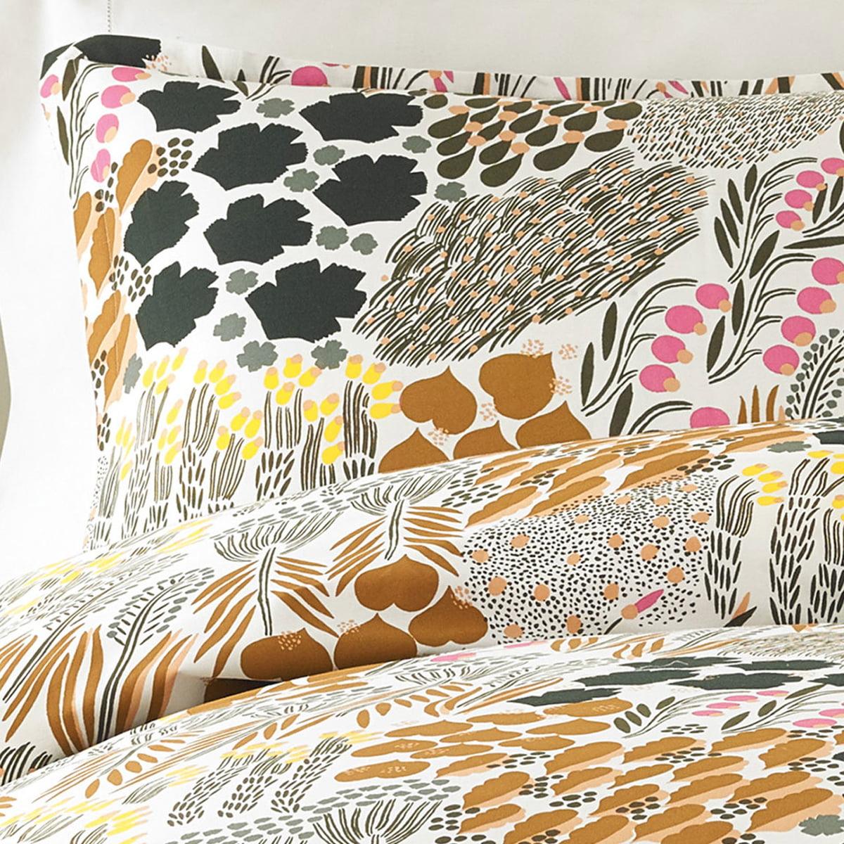Marimekko - Pieni Letto Kopfkissenbezug 50 x 60 cm| off-white / braun / grün | Heimtextilien > Decken und Kissen > Kopfkissen | Marimekko