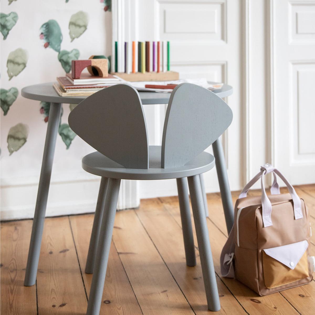 Nofred - Mouse Kindertisch oval 64 x 46 cm| schwarz | Kinderzimmer > Kindertische > Spieltische | Nofred