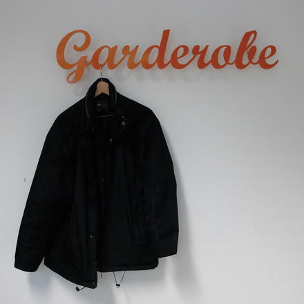 "Klein & More - ""Garderobe"" Wandgarderobe in Orange"