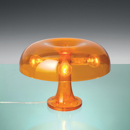 Artemide Nessino Tischleuchte, orange transparent