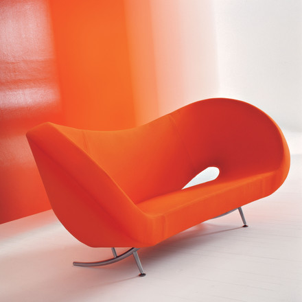 Moroso - Victoria und Albert Sofa - orange Situation