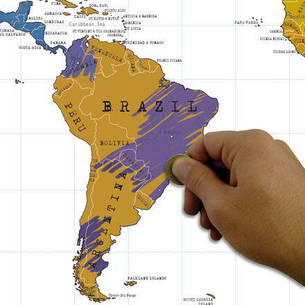 Luckies - Scratch Map, Brasilien, Detailansicht