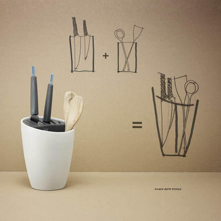 Rig-Tig by Stelton - Organise, pure white / heavy grey