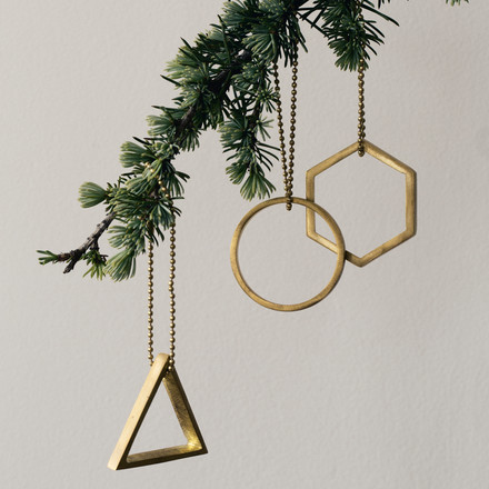 ferm Living - Messing-Ornamente