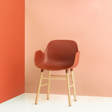 Form Armchair von Normann Copenhagen aus Eiche in Orange
