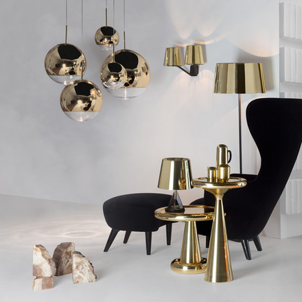 Tom Dixon - Mirror Ball Gold Pendelleuchte