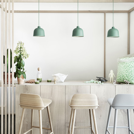 Muuto - Grain Pendelleuchte, dusty green