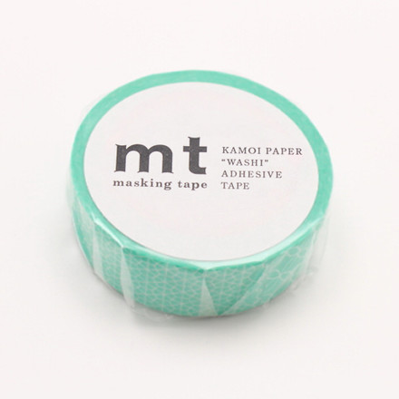 Masking Tape - 1P Deco Series Line Pattern Green
