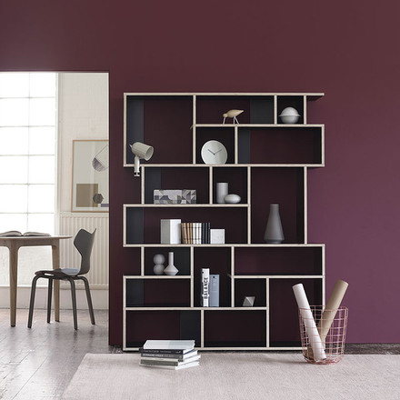 Ivy Shelf Pattern Wall von Tylko in Schwarz