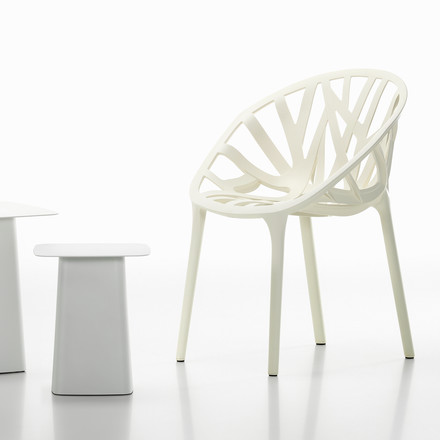 Vitra - White Collection - Vegetal / Metal Side Table