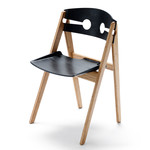 We do wood - Dining Chair no. 1, schwarz