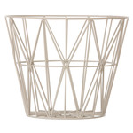 ferm Living - Wire Basket Large, grau