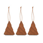Skagerak - Spruce Tree Christbaumschmuck, Teak (3er-Set)