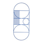 ferm Living - Outline Wanddekoration Oval, blau