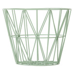 ferm Living - Wire Basket Large, mint