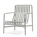 Hay - Palissade Lounge Chair High, hellgrau