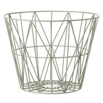 ferm Living - Wire Basket Large, dusty green