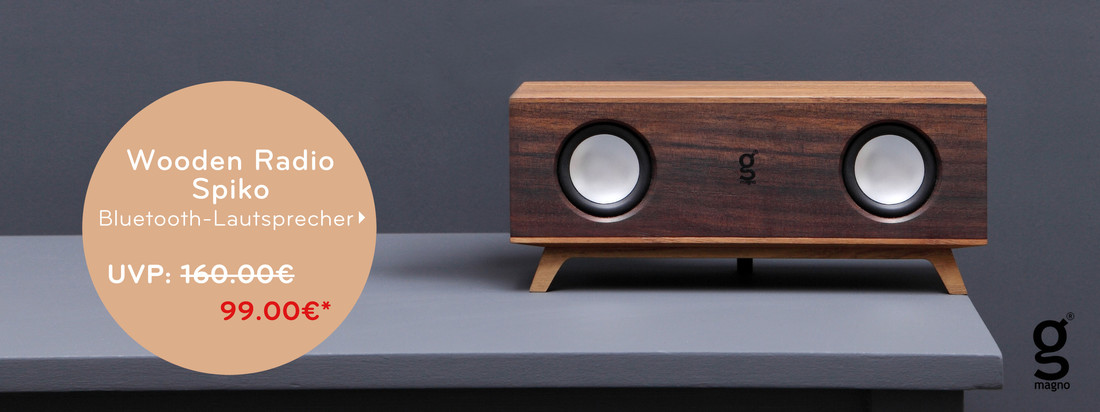 Magno - Wooden Radio Spiko Bluetooth-Lautsprecher