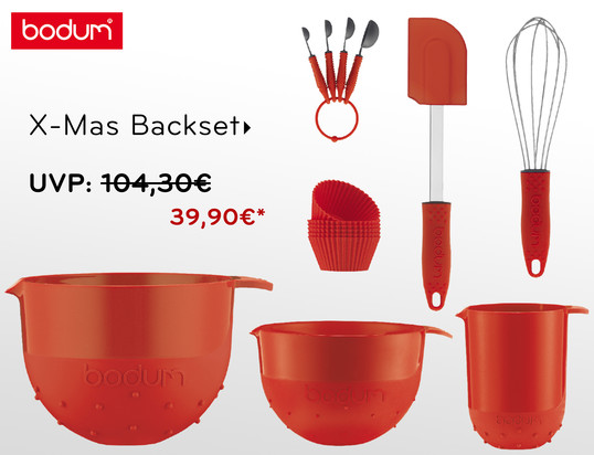 Angebotsbanner - Bodum - X-Mas Backset