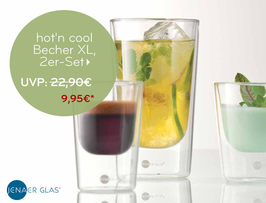 Angebotsbanner - Jenaer Glas - hot'n cool Becher
