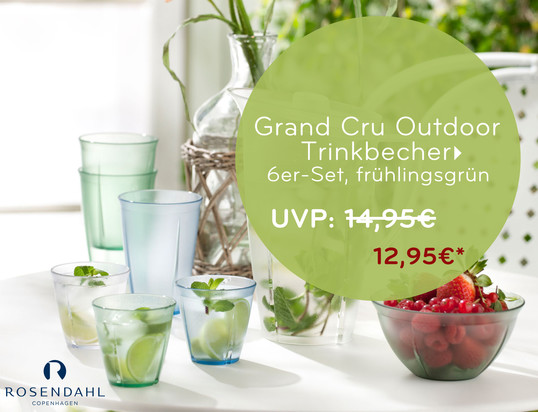 Angebotsbanner: Rosendahl - Grand Cru Outdoor Trinkbecher