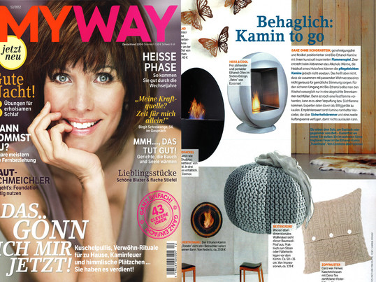 "Presse Mayway 12/2012 ""Behaglich: Kamin to go"" , Artikel"