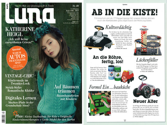 Luna Magazin, September / Oktober 2013 - Cover + Bericht