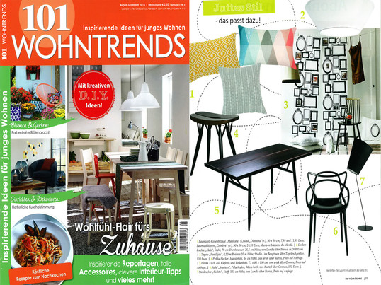 101 Wohntrends, August-September 2016 Inhalt