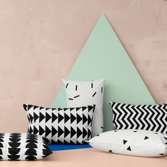 Ferm Living - Black Mini Cushion, Kissen